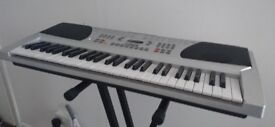 Acoustic Solutions Home Keyboard, stand & adapter - Good condition
