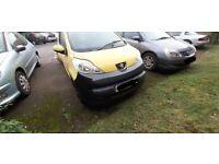Peugeot 107 front bumper (2006) black second hand scratches
