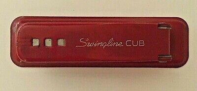 Vintage Red Swingline Cub Stapler Works
