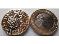 2016 William Shakespeare £2 Pound Coin Rare