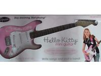 fender stratocaster strat hello kitty 100% mint and boxed collectors starter / guitar