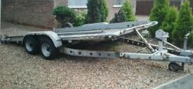"BRIAN JAMES TWIN AXLE TILT BED RECOVERY CAR TRAILER (14' X 6'3"" BED ) WITH WINCH"