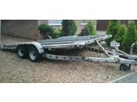 """BRIAN JAMES TWIN AXLE TILT BED RECOVERY CAR TRAILER (14' X 6'3"""" BED ) WITH WINCH"""