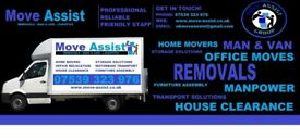 Move-Assist Moving service, Home Removals, Office Relocation, Furniture Delivery, Same Day Service