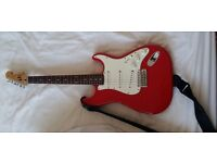 RED Electric Guitar Squier Made in Korea 1987 with *gen Fender MIM pickups