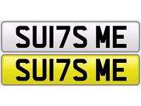 Personalised Number Plate ( SUI7 SME ) - SUITS ME