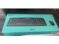 Logitech keyboard and mouse set boxed