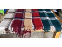 Long Tartan scarves beige/burgundy/caramel/red/green