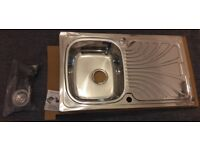 **BRAND NEW** Kitchen sink stainless steel – single bowl with waste