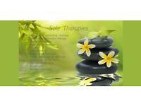 Swedish, aromatherapy, reflexology and deep relaxing therapies