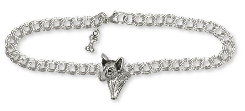 Australian Cattle Dog Bracelet Jewelry Sterling Silver Handmade Dog Bracelet ACD