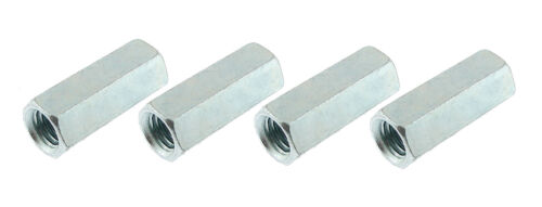 """4 Pack 1/2""""-13 x 1-3/4"""" Long Hex Coupling Nut with Zinc Plate CN-500-13-1.75-Z"""
