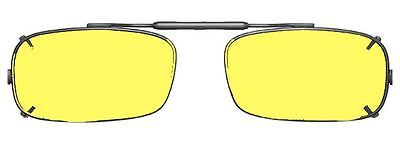 Visionaries Polarized Clip on Sunglasses - True Rec - Black Frame - 52 x 29 Eye