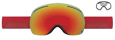 - NEW Dragon X1 Stone Red Ion Mirror Mens Frameless Large Goggles +lens Ret$170