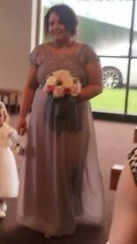 Grey dimonte bridesmaid dress's