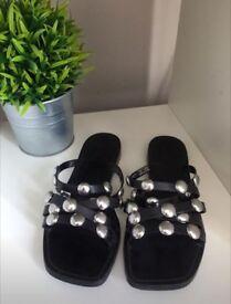 Stunning Zara studded sandals
