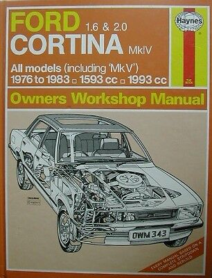 HAYNES FORD ESCORT 1975 to 1980 All OHV 1097  1297  1596 cc  Manual No 343     a