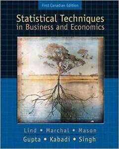 Statistical Techniques in Business & Economics, Canadian Ed Lind
