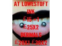 Body piercing @ Lowestoft Ink