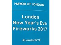 NYE London Fireworks - BLUE AREA (best view)