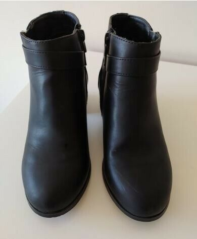 Dunnes black ankle boots size 4