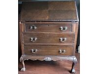 Antique writing desk, bureau in need of some TLC