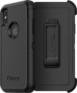 BNIB Original Genuine OEM Apple iPhone X OtterBox Defender Screenless Rugged Tough Heavy Duty Case & Belt Clip Holster