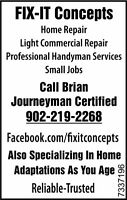 Home Repair, Small Jobs, Professional Handyman, Light Commercial