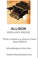 Proofreader, Freelance Writer, Editor and more