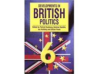 Developments in British Politics by Drucker et al 6th Edition £4