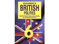 Developments in British Politics 6th Edition by Dunleavy et al - £2.50 ONO Plus £2.60 P&P