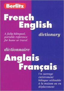 Berlitz French-English Dictionary Dictionnaire Anglais-Francais West Island Greater Montréal image 1