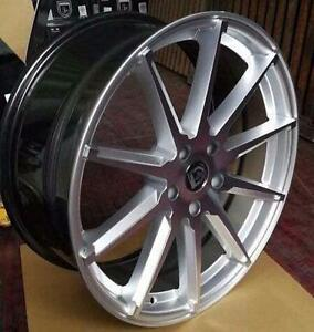 NEW!! 20 AND 22 INCH CONCAVE! HYPER SILVER WHEELS AND NEW TIRES!! mdx cts sts edge escape BMW MERCEDES - 1218