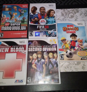 5 Wii games . Gone ppu