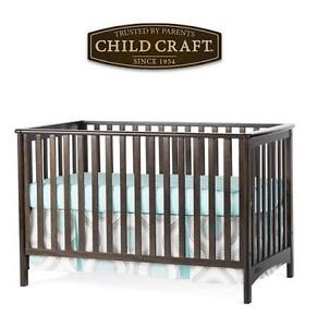 NEW CHILD CRAFT 3-IN-1 BABY CRIB SLATE CONVERTIBLE 108877090