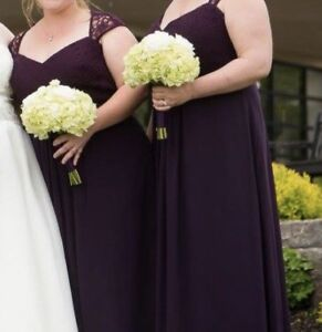 Bridesmaid / prom / formal plum dress