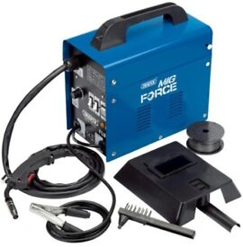 DRAPER GASLESS MIG WELDER KIT DEAL WITH WIRE & MASK 100 AMP
