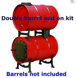 Double Barrel Stove Adapter Add on Top Kit Only