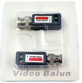 AHD CVI TVI Coax CAT5 CCTV Camera Passive BNC Video Balun to UTP Connector Transceiver