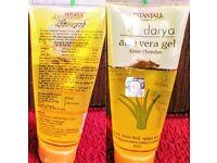 PATANJALI ALOE VERA GEL KESAR(saffron) CHANDAN(sandalwood) 2×60Ml for beautiful & fair glowing skin