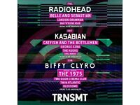 2 Friday and 2 Saturday tickets to TRNSMT festival in Glasgow FACE VALUE 7/7/17 and 8/7/17