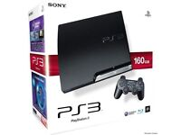 PS3 Slim 160GB Console...+ 2 Games....Good Condition!!!!