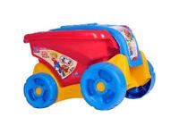 NEW Mega Bloks Fill and Dump Wagon This pull-along wagon contains 25 Maxi Mega Bloks pieces