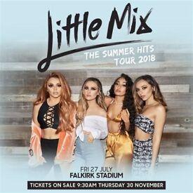 Little Mix standing golden circle tickets - Falkirk Staium