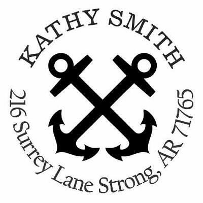 Anchors Personalized Custom Return Address Self Inking Rubber Stamp E76045