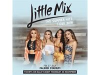 2 x Little Mix golden circle standing tickets - Falkirk Statdium