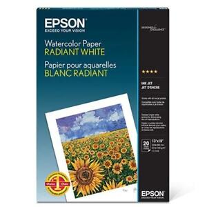 Epson 13 x 19 inch photo paper new watercolor radiant white