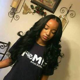 closure/frontal weaves, weaves with leave out, full weaves, quick weaves, tracks/bonding from £40