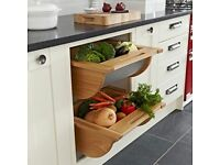 Vegetable drawers for fitted kitchen