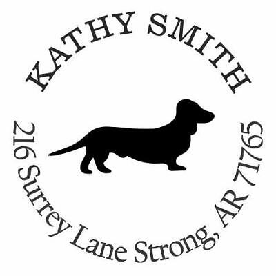 Dachshund Dog Personalized Custom Return Address Self Inking Rubber Stamp E76682